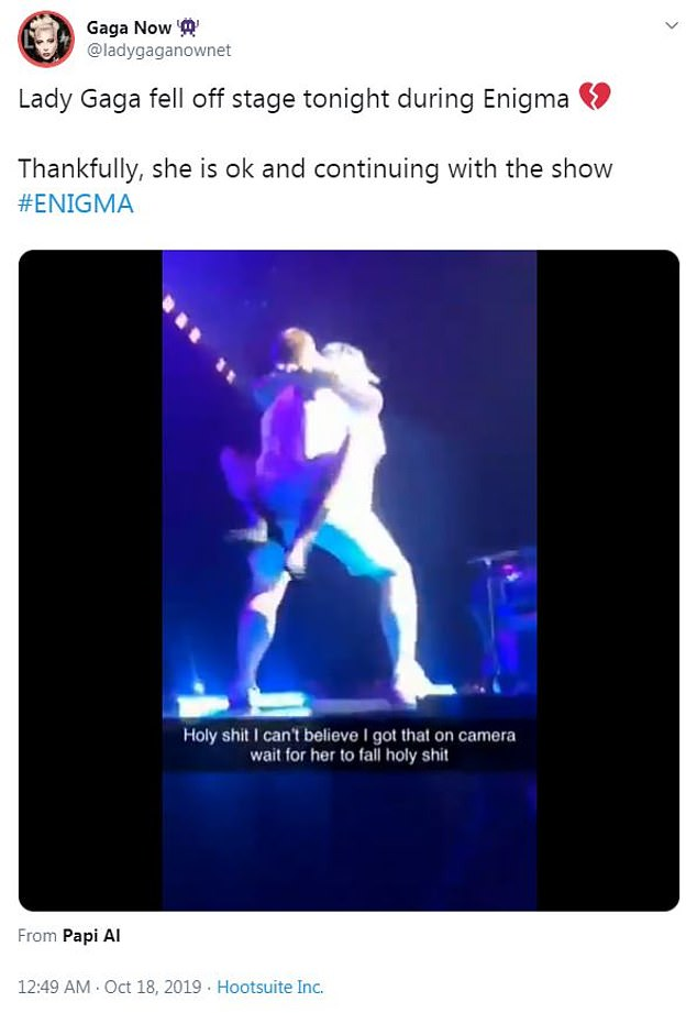 Worried: Dozens of fans said they were worried after the fall with some taking to Twitter, pictured, and one saying on Reddit that the crowd 'legitimately all thought she was dead'