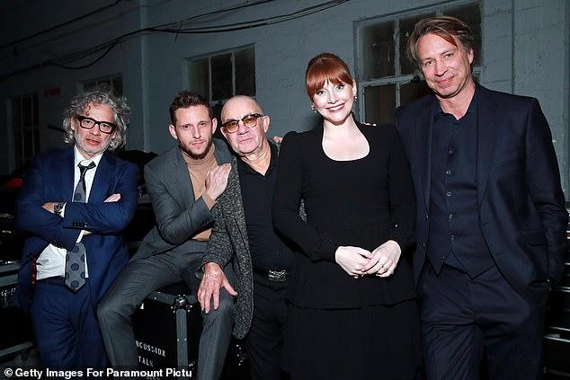 Superstars: (L-R) Director Dexter Fletcher, Jamie, Bernie, Bryce and music director Giles Martin were all in attendance for the lavish concert screening