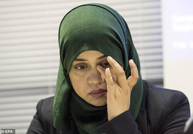 Miss Begum, a solicitor, told The Sun : 'I used to think doctors were second only to God. That belief was shattered when I was told by the NHS that saving my daughter was 'futile'.' Pictured: Miss Begum during a press conference on Wednesday