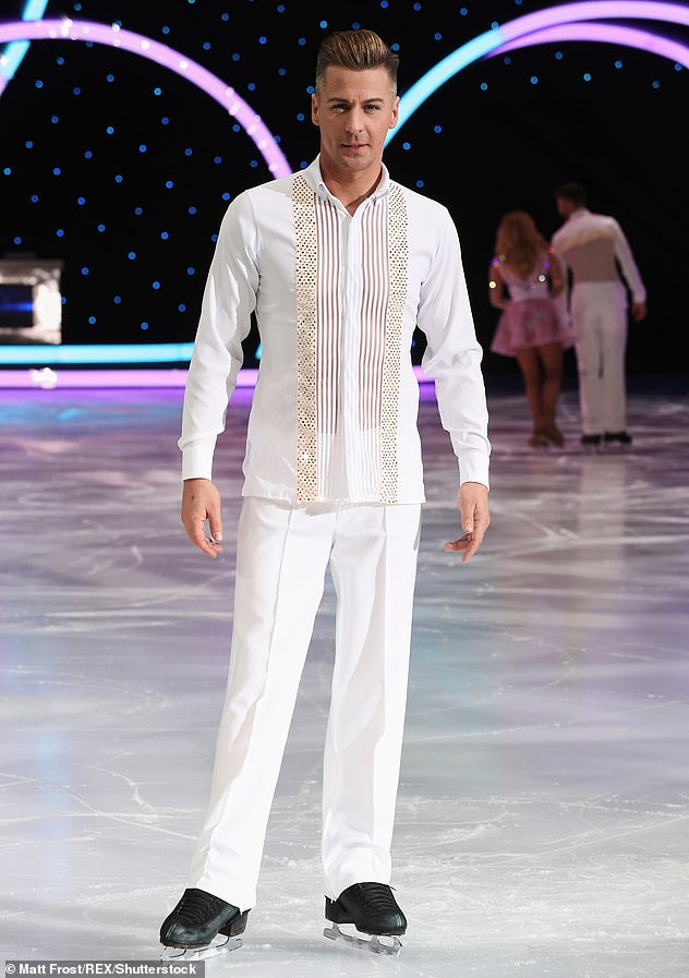 Partner: Former Steps star H, 43, will be partnered with US professional Matt Evers, also 43 and pictured, on Dancing On Ice