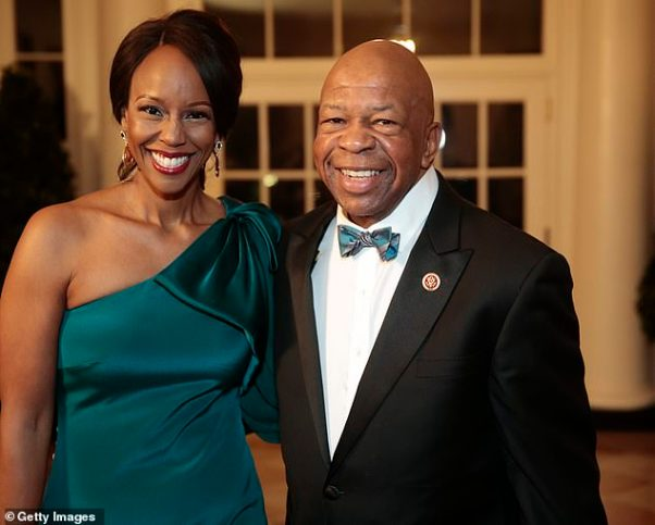 Image result for elijah cummings wife hair up