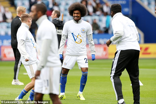Leicester players wore special commemorative warm up tops before kick off against Burnley