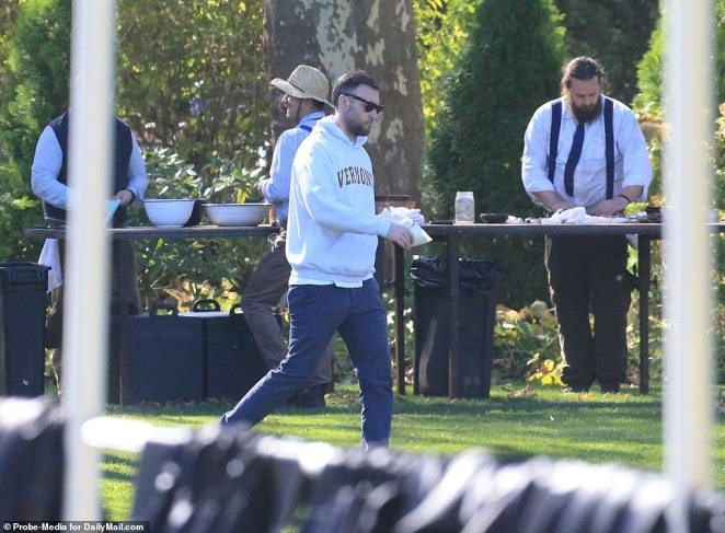 Maroney supervised the final details of the preparations for the wedding and reception on Saturday