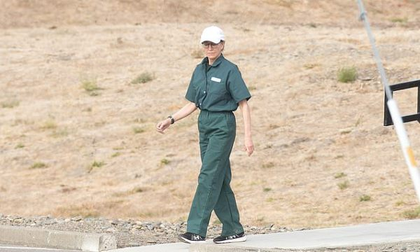 Felicity Huffman spotted in her prison jumpsuit