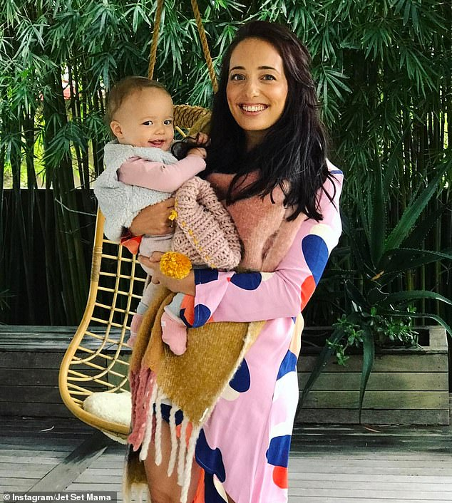 Many of Claire's (pictured with one of her children) followers on Instagram were delighted with her choice of baby name - and they said they didn't expect any less from her