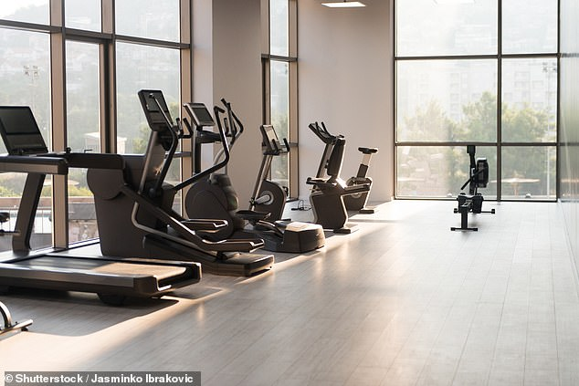 Empty-nesters turn the space into personal gyms, offices or craft rooms after an average of two years and seven months (file image)