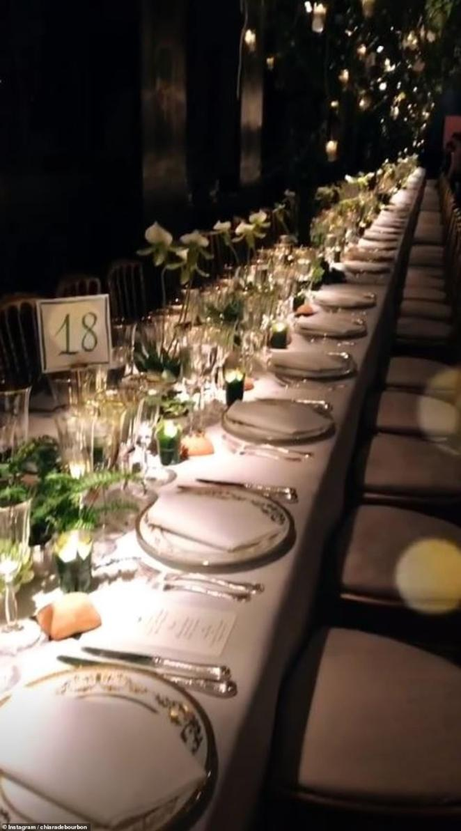 Guests shared snaps of the lavish wedding dinner reception which took place later in the evening