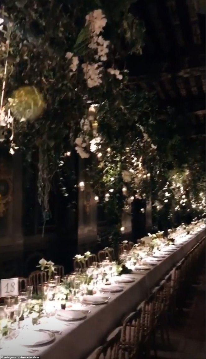 The wedding seemed to be straight out of a fairy tale with beautiful flowers and intimate lighting