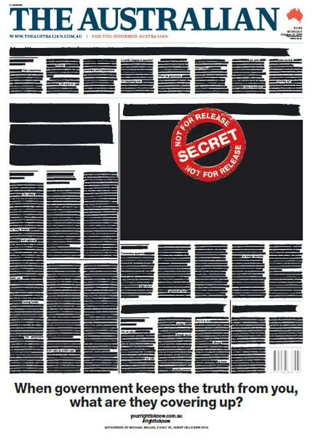 The Australian front page