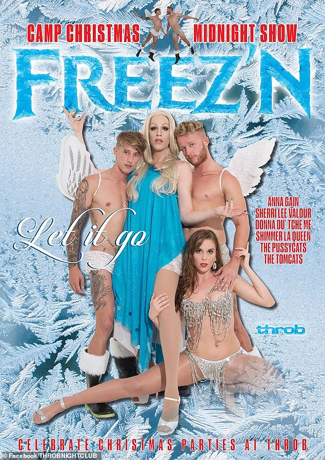 Ho, ho, ho! In 2017, Ciarran (left) starred in a Christmas-themedgay stage show called Freez'n