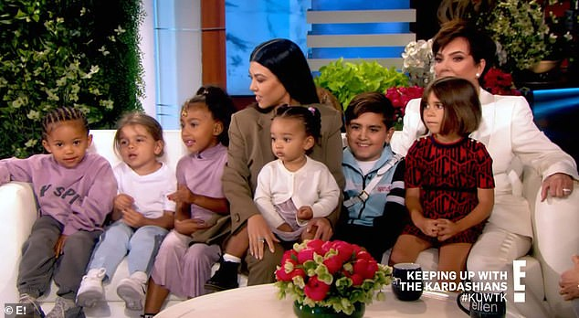 Talk show: Kris Jenner during an appearance on The Ellen DeGeneres Show was surprised by her grandchildren