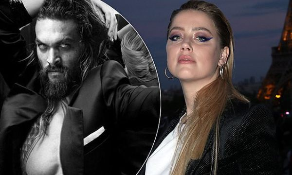 Amber Heard criticizes Instagram with altered shot of Jason Momoa