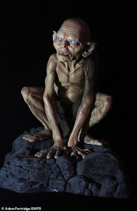 A figure of Gollum from Lord of the Rings sold for £200