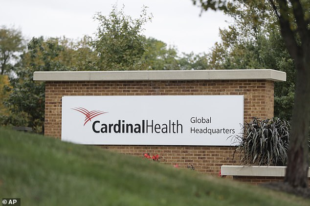 Cardinal Health's corporate office in Dublin, Ohio, is pictured above. The company was among three drug makers to agree to a settlement in the opioid epidemic on Monday, avoiding a federal trial