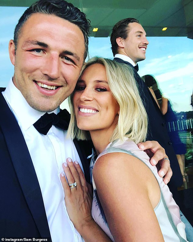 Burgess was visiting his children at his father-in-law Mitchell Hooke's home in Bowral on Saturday when the pair began arguing, according to The Daily Telegraph