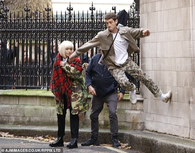 Agility: Rafferty displayed his agility as he dashed around the streets of the English capital