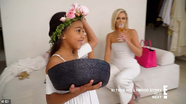 Flower girl: North served as flower girl during the ceremony