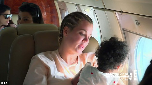 Fun trip: Khloe brought her one-year-old daughter on the girls trip to Turks and Caicos