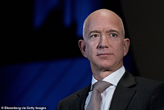 While Jack Ma, founder of online retailer Alibaba Group, may be the wealthiest man in China, his net worth doesn't even come close to his counterpart in the US. America's richest peson, Amazon founder Jeff Bezos (pictured), has an estimated net worth of $114 billion