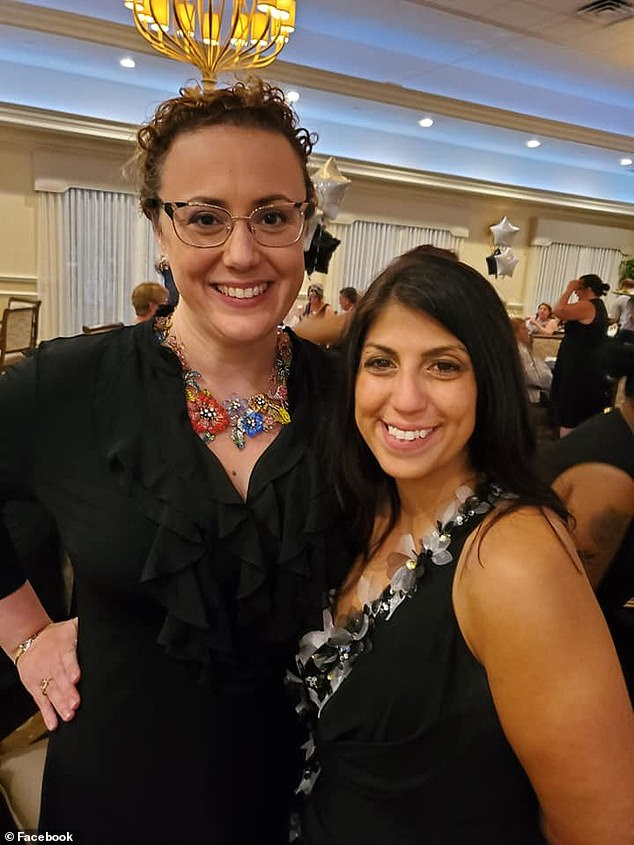 Esposito had volunteered for a slew of charities in addition to working as a marketing specialist for an insurance company. She is pictured above with Florida State Rep. Erin Grall