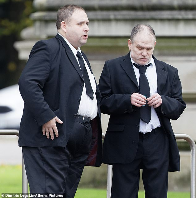 David (left) and Paul Gadd (right), the brothers of the victim outside Cardiff Crown Court today