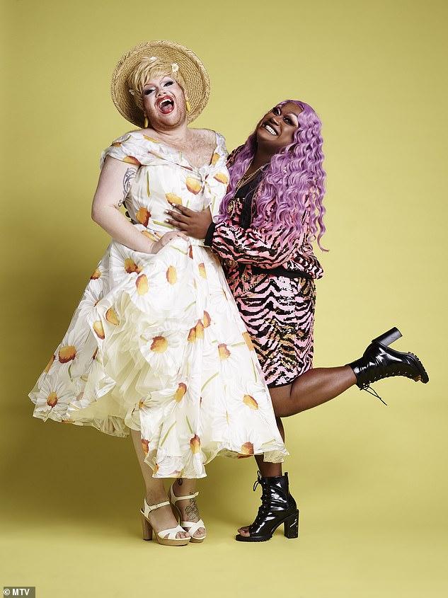 Shared interests: Timothie (drag name Grace Shush) and Mahatma (drag name Mahatma Khandi) met on the drag scene
