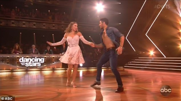 Sexy dance: Hannah's love of home drove her sexy, fun samba to Carrie Underwood's Southbound that she danced with partner Alan Bersten
