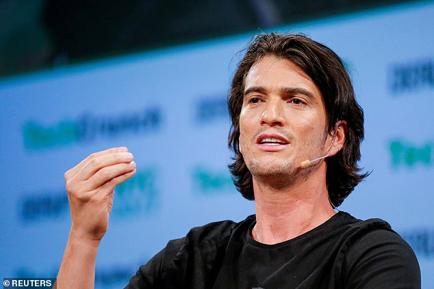 WeWork chairman Adam Neumann (pictured in May 2017) could be paid roughly $200million to forfeit control of the company he founded should it be purchased by SoftBank, insiders say