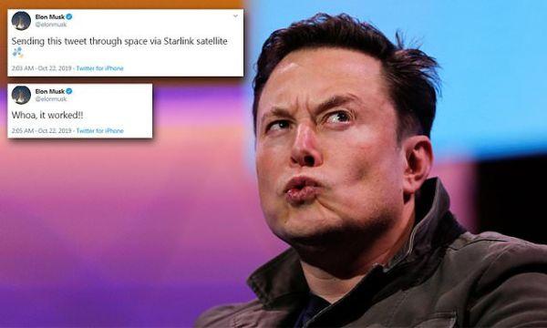 Elon Musk successfully sends tweet using Starlink satellites