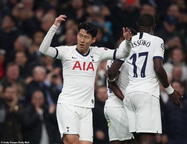 Tottenham 5-0 Red Star Belgrade: Son and Harry Kane hit braces