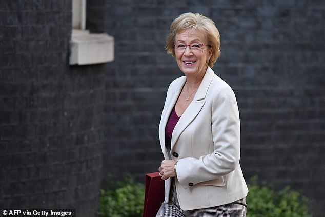 Business secretary Andrea Leadsom, pictured, is one of four ministers to have criticised Barclays bank after the firm announced it was no longer going to allow customers to withdraw cash from the Post Office