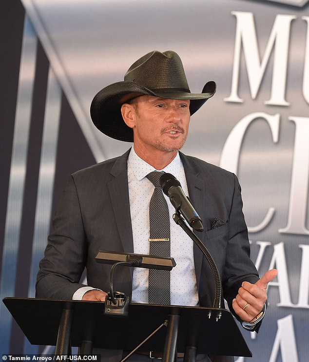 Ally: Tim McGraw inducted the group, with good nature quips aimed at Kelley peppered in