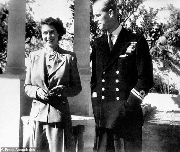 The monarch was said to have enjoyed a relatively ordinary life on the island, prior to her coronation. She is pictured with Philip in November 1949