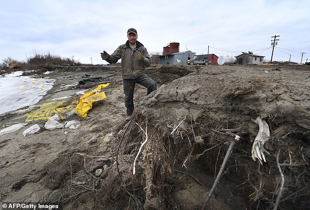 Scientists have been keying in on permafrost erosion like the kind seen above and now have evidence that the melt is releasing twice as much carbon into the atmosphere than previously thought