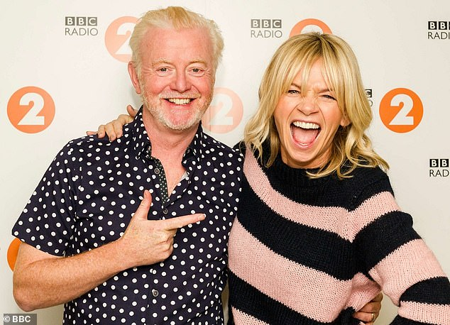 Zoe Ball has attracted the lowest number of listeners to the Radio 2 breakfast show in a decade after taking over from Chris Evans in January (pictured together)