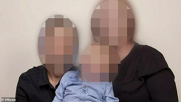 Text messages shown in court reveal the partner had sent photos to the mother of empty packets laying on the counter, and the mother, shocked to see them down, began panicking her son would be removed (pictured)