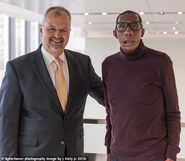 Dr Bondah Pomahac (left), the plastic surgeon who led the transplant team said that Chelsea has recovered extremely quickly despite being the oldest person to receive a new face