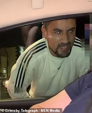 In the latest incident Smith can be seen walking around the car swearing before head-butting the window