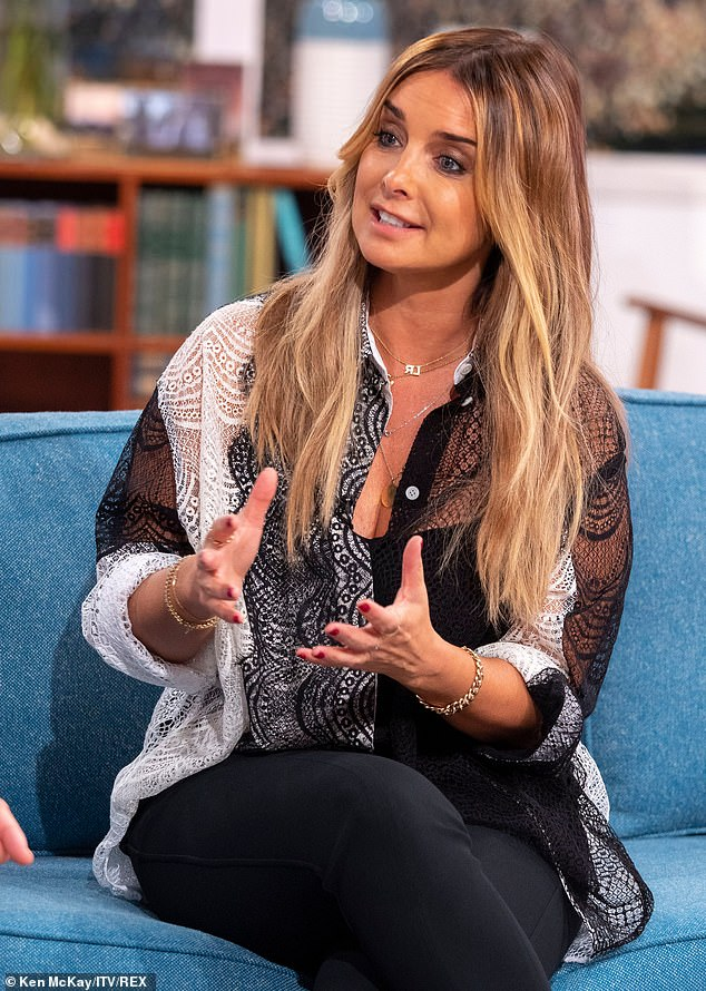 Open: The singer said on Friday's This Morning that she 'doesn't blame' her stint on Strictly Come Dancing for the end of her marriage, despite rumours about the show's 'curse'