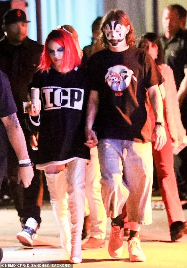 Who? Us? Halsey and Evan Peters appear to have confirmed rumours that they are an item as they stepped out for Halloween on Friday night