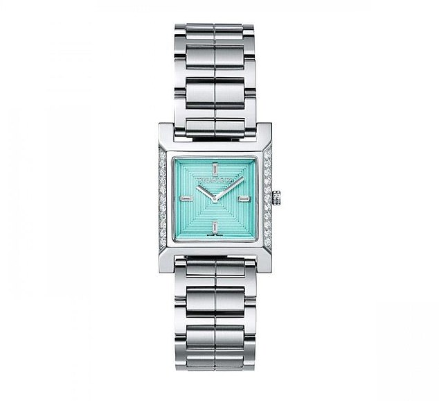 £5325: A Tiffany 1837 Makers 22 mm Square Watch in Stainless Steel with Diamonds, just one of the festive delights available behind the advent calendar's doors