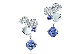 Tiffany & Co. Tiffany Paper Flowers Diamond and Tanzanite Flower Drop Earrings, which cost £8400 are included in the calendar