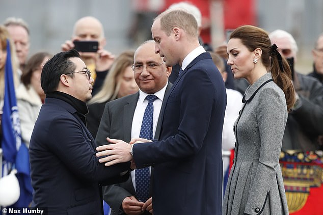 Following the tragic accident, the Duke and Duchess of Cambridge visited the King Power Stadium to pay tribute to the victims of a helicopter crash that killed five people including Leicester City chairmanVichai Srivaddhanaprabha. The Royals pictured with the late owner's son Aiyawatt 'Top' Srivaddhanaprabha
