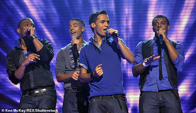 Former band: Oritsé's ready to put the false allegations behind him as he prepares to release an album he spent the last three years working on (pictured in JLS in 2008)