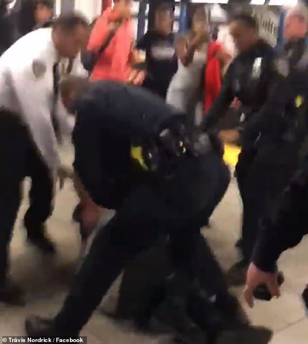 The force of the blow knocked the teen to the ground. At least two officers descended on the teen and placed him under arrest