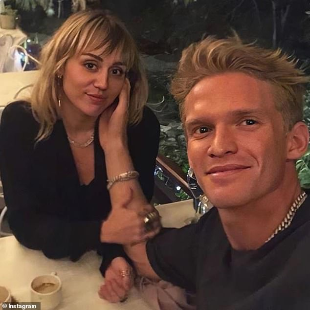 Back to the ranch: Since splitting,Miley has returned to her ranch next door, with new boyfriend Cody Simpson (R) having spent the majority of October shacked up there with her