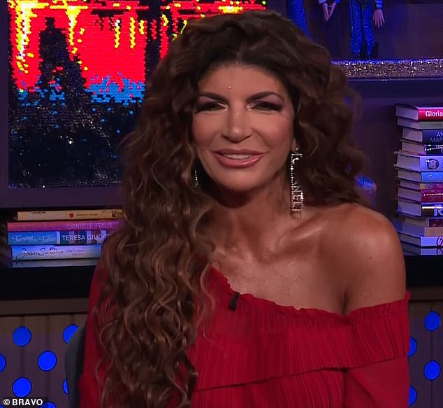 Beautifulest eyes:As the show closed, Teresa offered up a Sophia Loren quote that comforted her, saying: 'If you haven't cried, your eyes aren't beautiful' and noted she 'must have the most beautifulest eyes in the world'