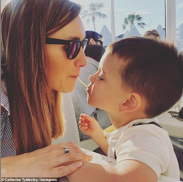 Motherhood:Catherine, who is mum to son Alfie, three, added that she was inspired by other mothers who may have felt they'd 'lost themselves'