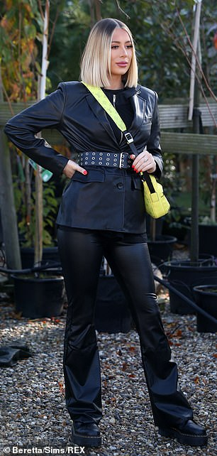 Flare for fashion: Demi opted to wear flared trousers
