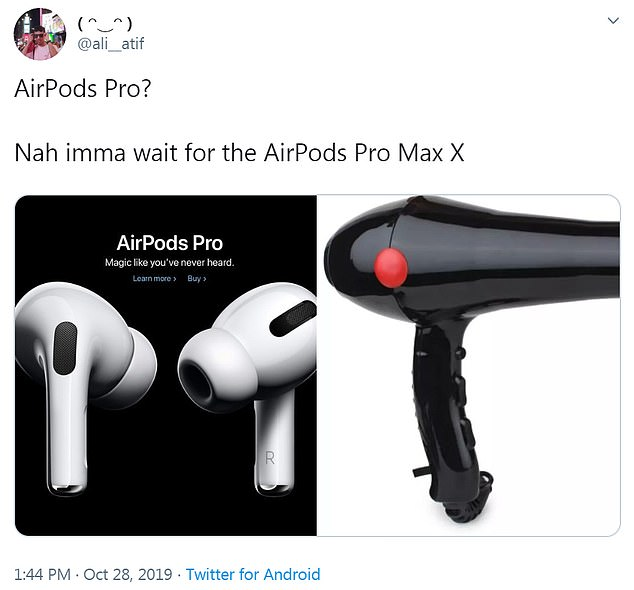 Many people flocked to Twitter to ridicule Apple's new design, as some said it looks like a hairdryer